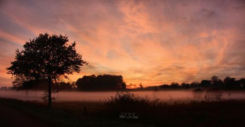 Couché de soleil dans la Manche